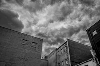 Clouds Over Abandonded Furniture Warehouse