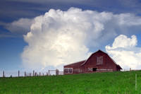 Storm Clouds and Barn
